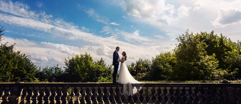 Panoramiczne zdjęcie Pary Młodej