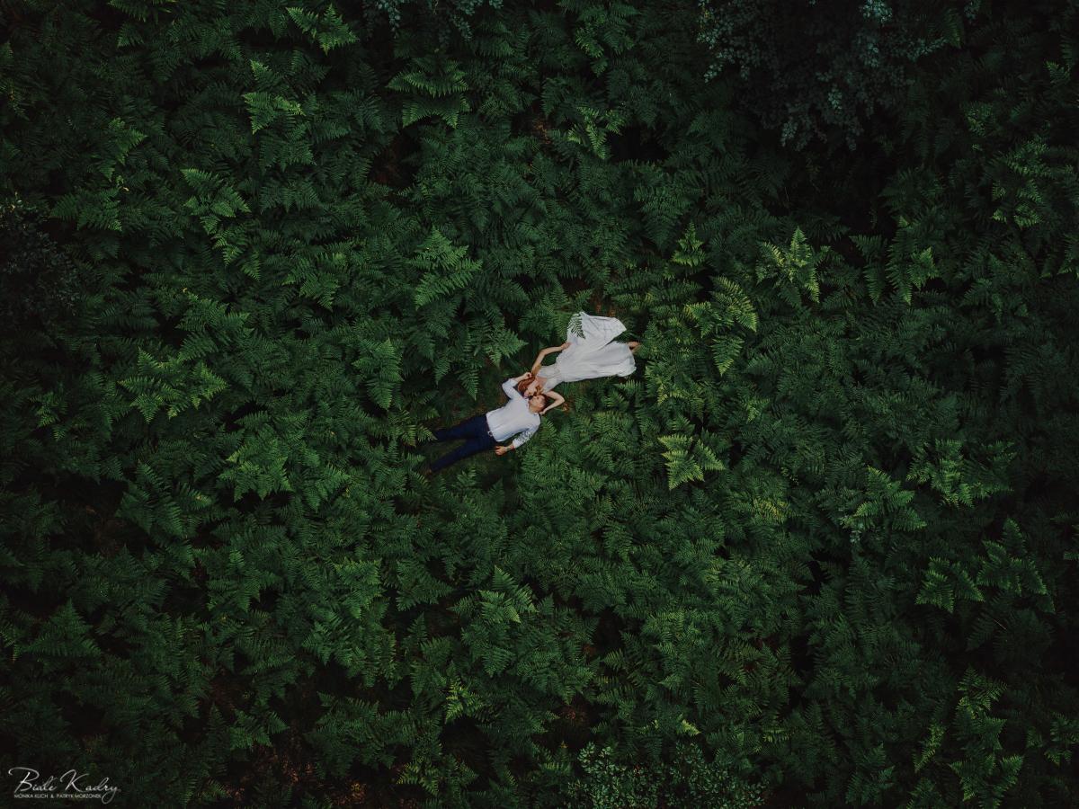 plener ślubny z drona, dron fotograf