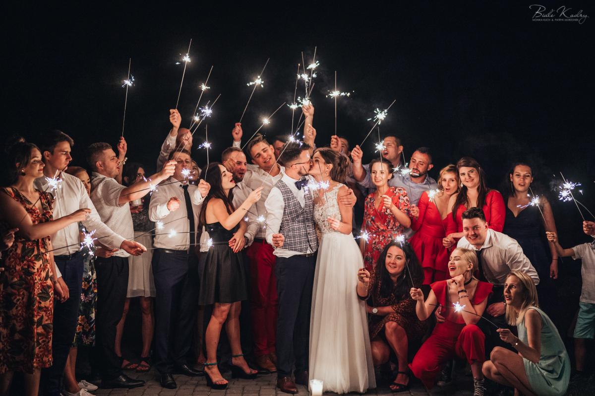 Sztuczne ognie atrakcje weselne