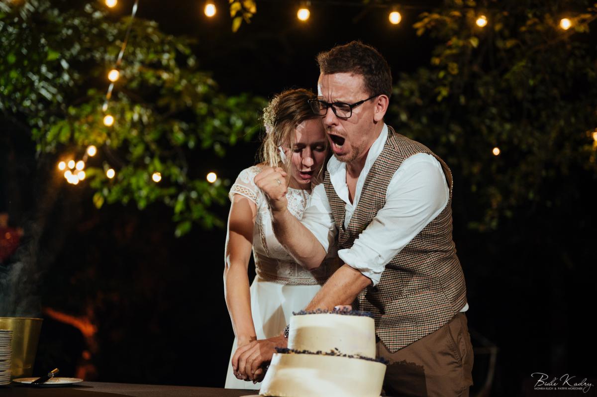 krojenie tortu weselnego